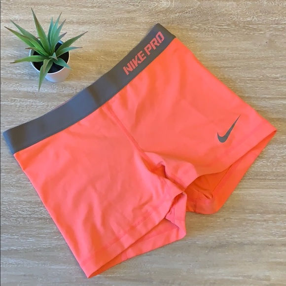 Clothing, Shoes & Accessories Activewear Nike Pro Dri-fit Compression Shorts-size Small Orange Purple